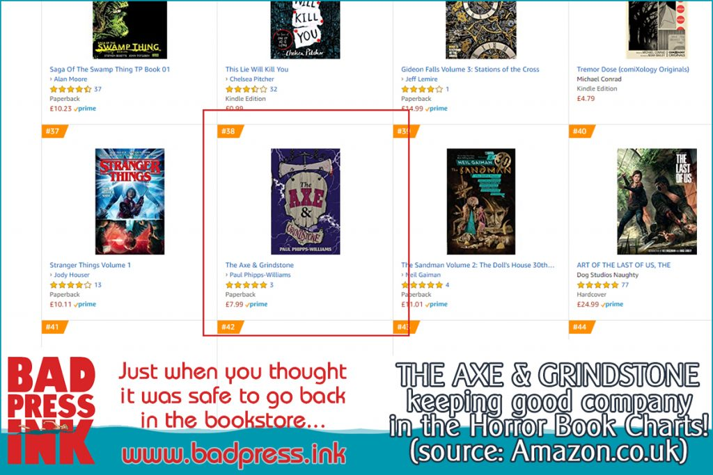 Horror Book Charts
