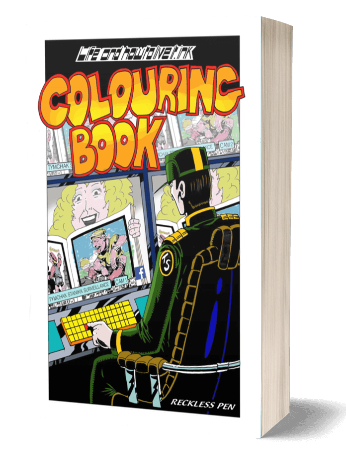 Life and How to Live It Colouring Book Cover